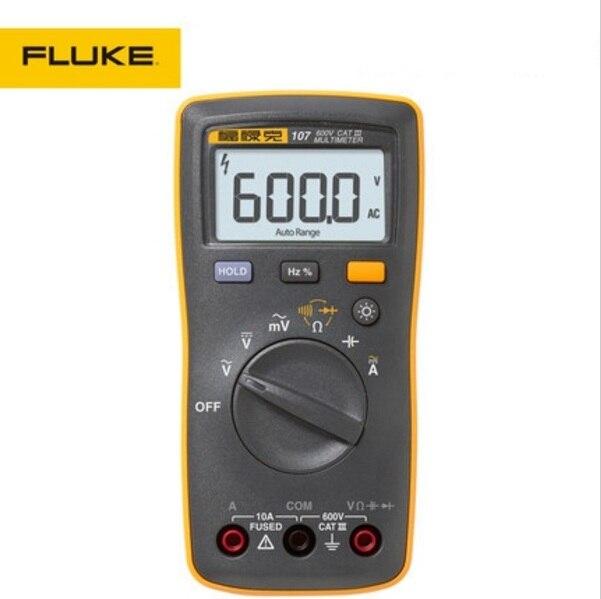Free shipping Fluke 107 AC/DC Current Handheld Digital Multimeter with Magnetic Pendant free shipping multimeter 830l handheld digital universal table with multi meter multimeter