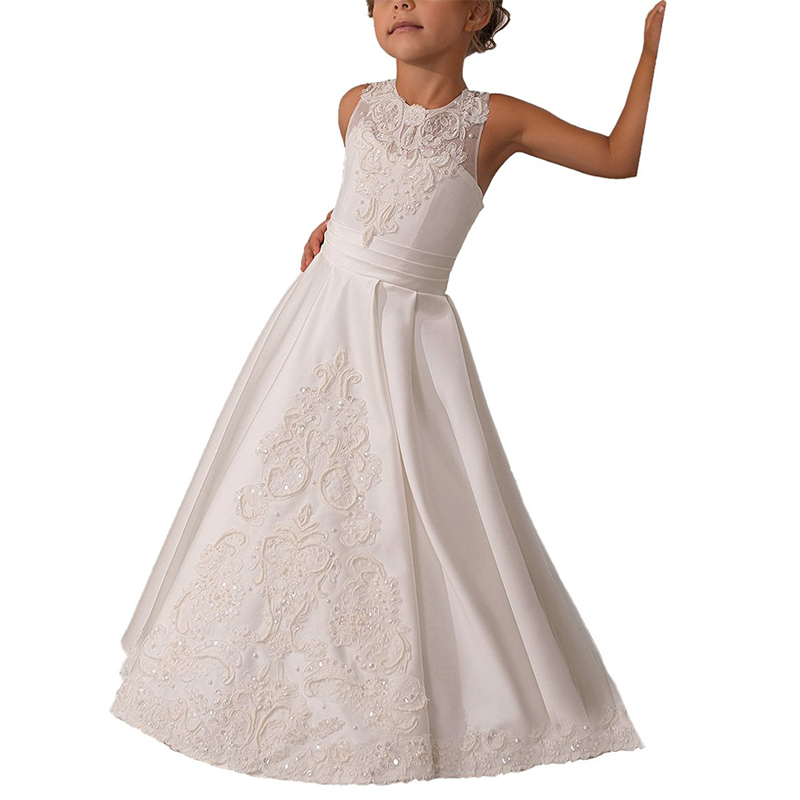 halter white flower girls dresses for wedding pearls party dresses for girls holy first communion dress long kids ball gowns guess new white illusion panel halter dress msrp $129 dbfl