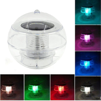 Solar Powered Lamps Panel Self Recharging Floating LED Ball For Garden Ponds Lawn Lamps Landscape Yard