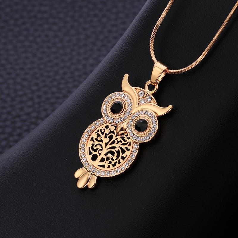 2018 Kuuma myynti Vintage korut pöllö riipus kaulakoru naisten elämän puu käärme ketju korut kaulakorut ja riipukset Bijoux kolye
