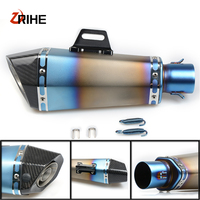 High Quality 36 51mm Universal Motorcycle Moto Bike Exhaust Pipe With Muffler For Yamaha xmax 300 XMAX300 V MAX 1200 /VMAX 1200