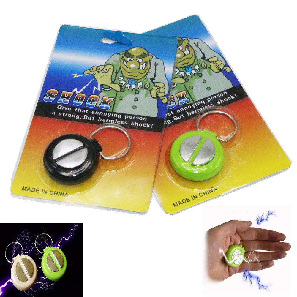 1pcs April Fools Day Electric Shock Handshake Joke Prank Funny Electronic Toys