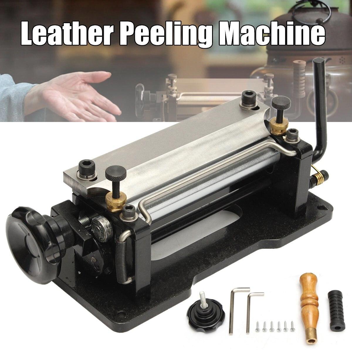 6 pouces Manuel En Cuir Peel Outils DIY Pelle Peau Machine En Cuir Splitter Tannage Végétal Poignée Éplucheur