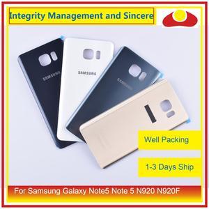 Image 2 - 50 adet/grup Samsung Galaxy Note5 not 5 N920 N920F batarya muhafazası kapı arka arka cam kapak kılıf şasi kabuğu