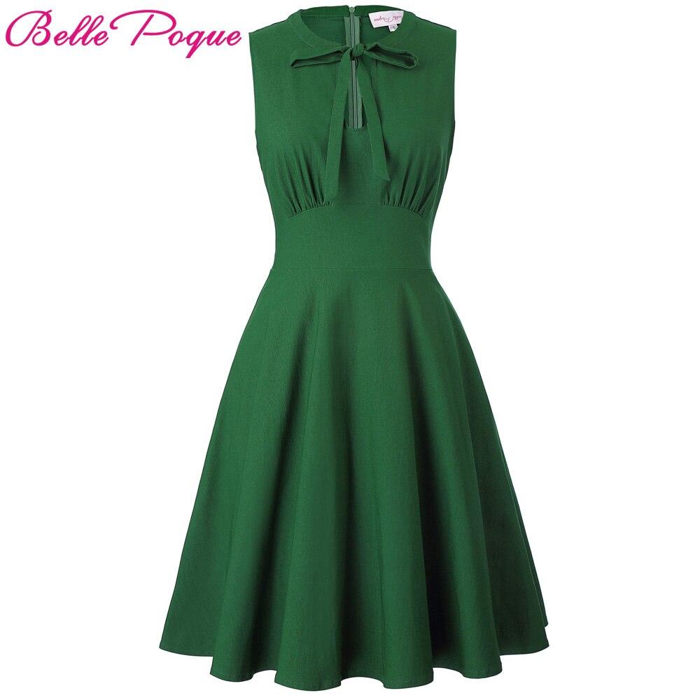 Summer Women Dress Audrey Hepburn Vestidos Sleeveless Solid