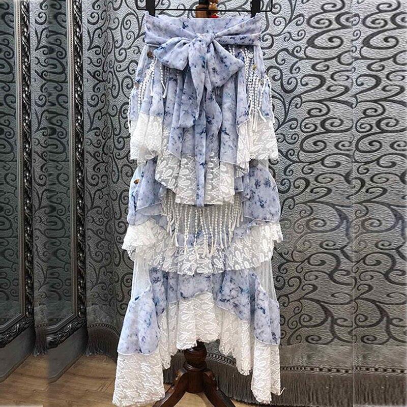 Gland Bohe De Style 2019 Deux Femme Ensemble blue Pièces Ensembles Femmes Sans Volants Sexy White Date Et Haut Dentelle Bretelles Jupe fwqwBZp