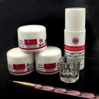 Acrylic Nail Kit Acrylic Liquid Manicure Set Glitter Powder Dust Nail Brushes Glass Dappen Dish Nail