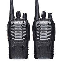 2 Pcs Baofeng BF 888S Walkie Talkie UHF 400 470MHZ Handheld Portable Two Way Radio Free
