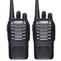 2 Pcs Baofeng BF 888S Walkie Talkie UHF 400 470MHZ Handheld Portable Two Way Radio Free
