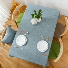 Nordic solid color tablecloth cotton linen small fresh table cloth modern minimalist coffee rectangular