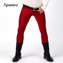 Speerise Mens Lycra Leggings Tights Skinny Full Length Meggings for Guys Men Wearing