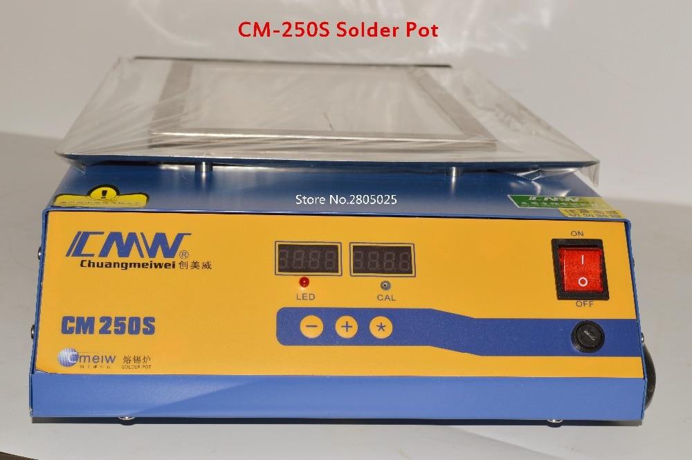 CM-250S Solder Pot 1800W Lead free soldering station square Melting furnace with Digital display adjustable temperature