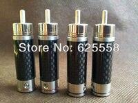 gaofei-gf-cf201r-pure-copper-silver-plated-carbon-fiber-hi-end-rca-plug-4pcs