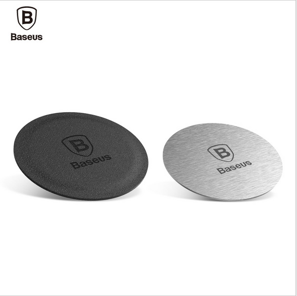Baseus Brand Magnetic Disk For Car Phone Holder 2 pieces Metal & Leather Iron Sheets Pla ...