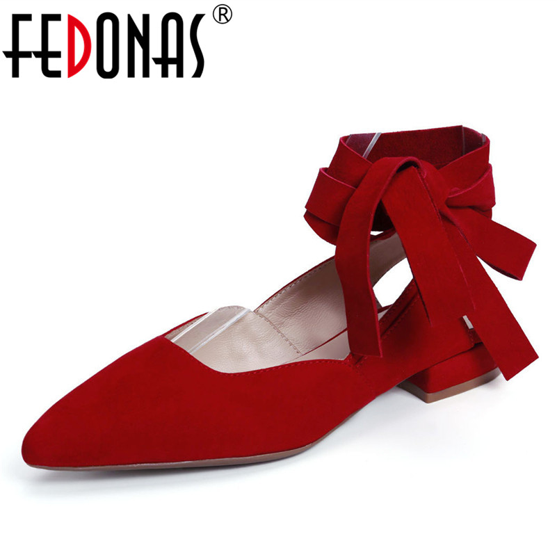 FEDONAS Fashion Women Ankle Strap Pumps Sexy Pointed Toe Wedding Party Shoes Woman Summer New Elegant Sexy High Heels Pumps ankle strap chunky elegant cool designer pointed toe pink high heels sandals women fashion 2018 summer shoes cross pumps closed
