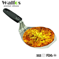 Free Shipping Plastic Handle Stainless Steel Cake Lifter Pizza Spatula Pizza Peel Cake Server