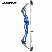 2 Color 40 60lbs Archery Compound Bow Aluminum Alloy Slingshot Bow with Peep Sight for Outdoor Hunting Shooting