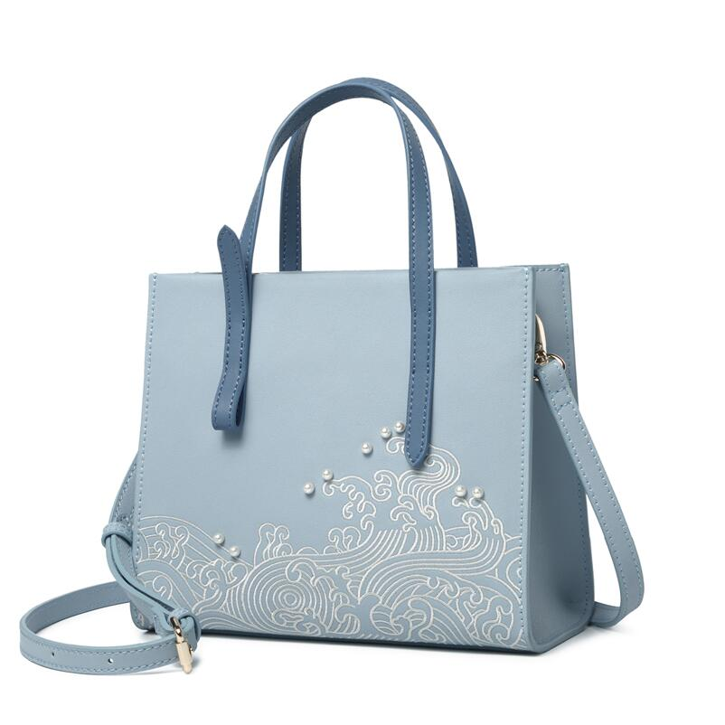 Pmsix high quality fashion luxury brand 2018 new fashion wild simple Chinese style embroidery atmosphere slung shoulder bag hand elsie mochrie simple embroidery