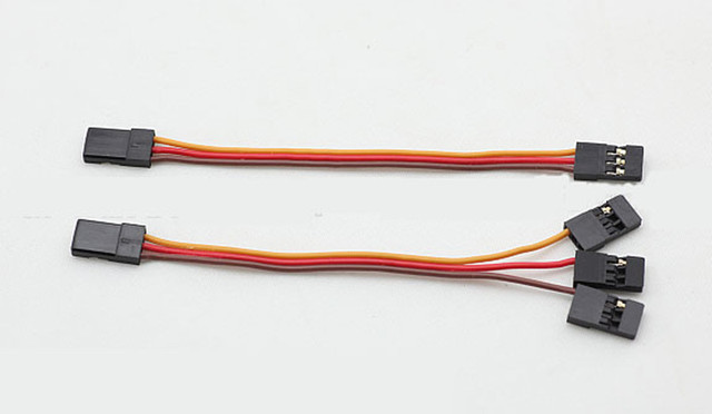 2pcs kk multirotor flight control board receiver connector cable 30 core  parallel connector fpv mini cable