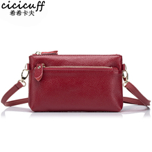 CICICUFF Ladies Messenger Bags Genuine Leather Brand Women Small Clutch Bag Fashion Crossbody Bags For Women New Day Clutches