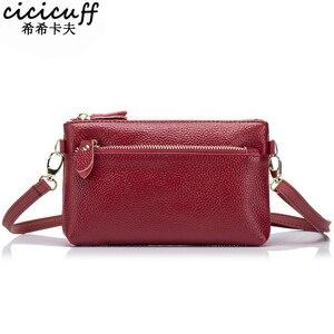 Image 1 - CICICUFF السيدات حقيبة ساع حقيقية الجلود العلامة التجارية النساء صغيرة حقيبة صغيرة الأزياء Crossbody حقائب للنساء يوم جديد براثن