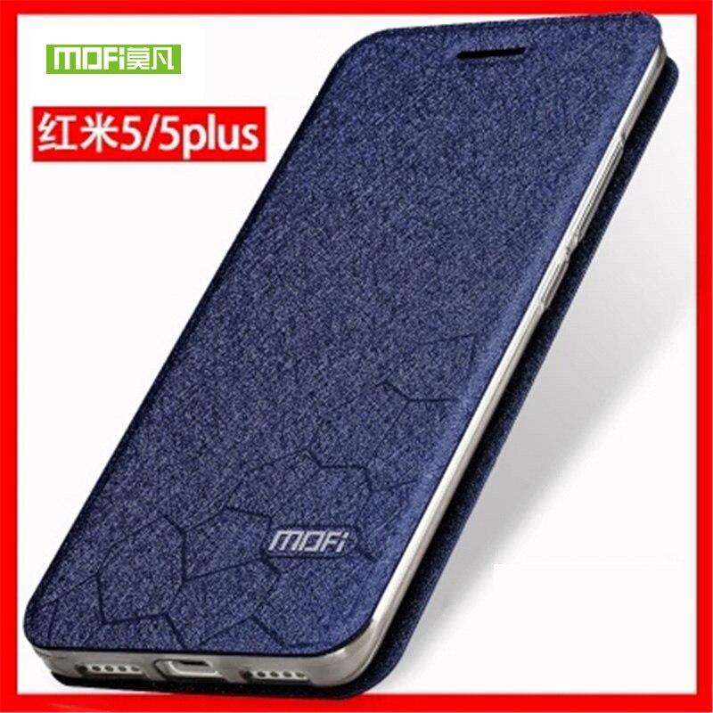 Pour Xiaomi Redmi 5 5.7 pouce Cas D'origine MOFI Flip Étui En Cuir pour Riz Rouge 5 Plus 5.99 pouce Hongmi 5/5 Plus Stand Fonction
