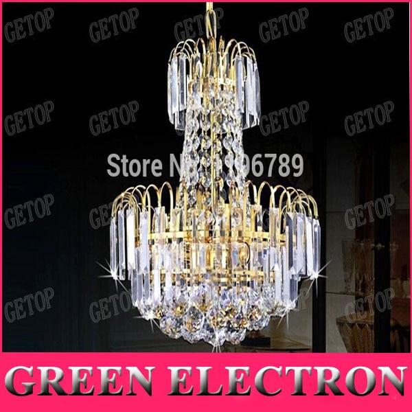 Free Shipping Royal Empire Golden Crystal Chandelier Light Crystal Ceiling Ceiling Lamp free shipping high quality modern crystal ceiling lamp golden crystal ceiling lighting sy4062 4l d500mm ac 100