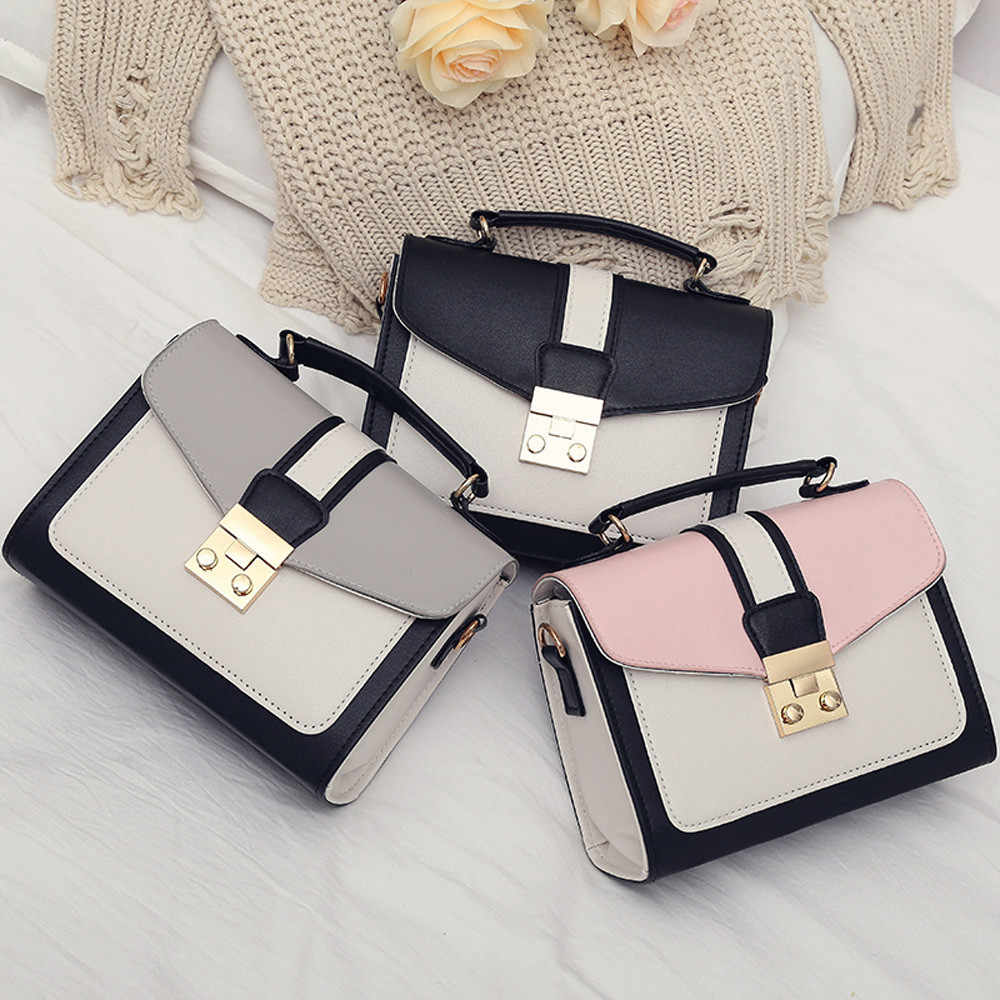 Women Handbag Woman Sling Black Female Fashion Hit Color Mini Bag Shoulder Messenger Satchel Tote Crossbody Bag Bolso Mimbre #AF
