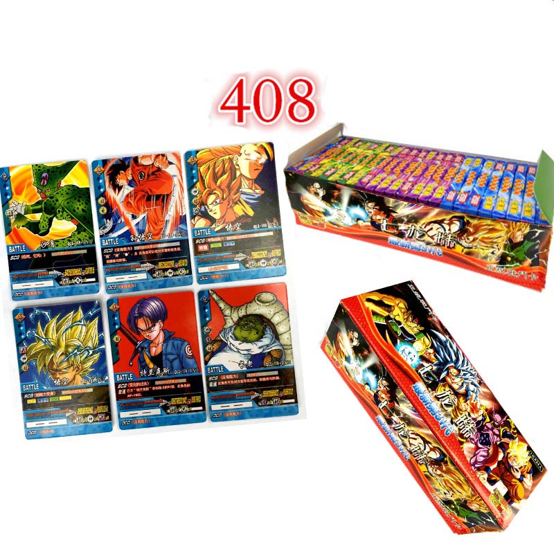 408pcs Dragon Ball Gt Super Ultra Instinct Goku Action Toy Figures Commemorative Edition   Game Collection Card Collection Cards