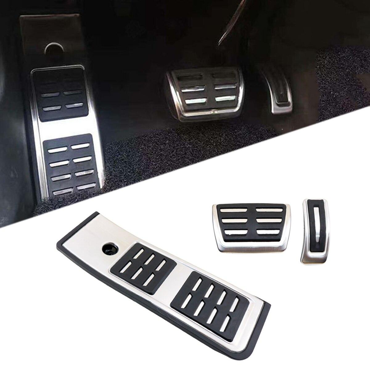 Accessoires couvercle de pédale adapté pour Audi A4 B9 S4 RS4 2016 2017 2018 repose-pieds antidérapant plaque d'accélérateur huile gaz carburant frein à coussinet