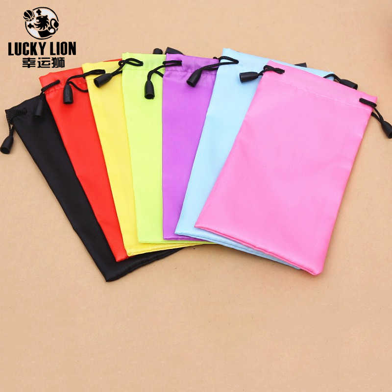 Hot Sale 18*9cm Mix Colors 10pcs/lot Drawstring Sunglasses Bags Black Bags Myopia Customized Glass Case Eyewear Accessories