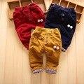 Casual Outono Inverno Dos Desenhos Animados Das Crianças Dos Miúdos Do Bebê Meninos Recém-nascidos do Sexo Masculino Calças De Veludo Calças de Comprimento Total