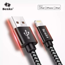 Benks Nylon Fast Charging Cables 8 Pin For iPhone 7 8 6S Plus Lighting Charger Cable For iPad Air 5 6 Charge Line 0.25/1.2/1.8M