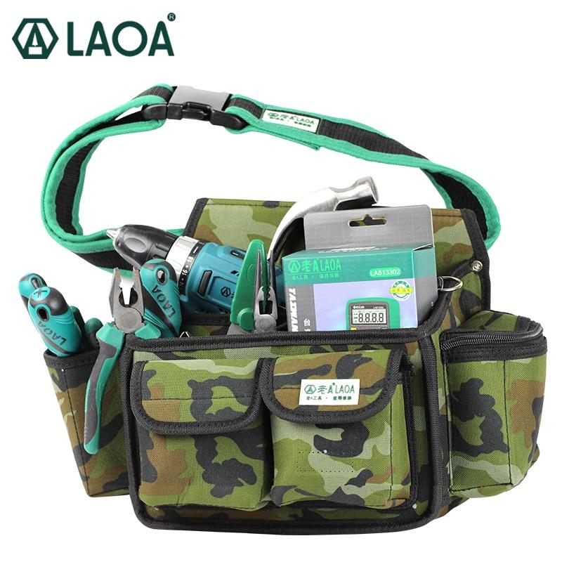 LAOA Camouflage Tool Bag Multifunction Brand Tool Waist Bags Professional Electrical Repair Tools bag цена