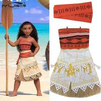 Vaiana Cosplay Customes Kid And Adult Movie Moana Princess Dress Women Costume Skirt Suit Halloween 3