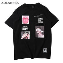 Aolamegs T Shirt Men Funny Picture Print Men s Tee Shirts O neck T Shirt Cotton