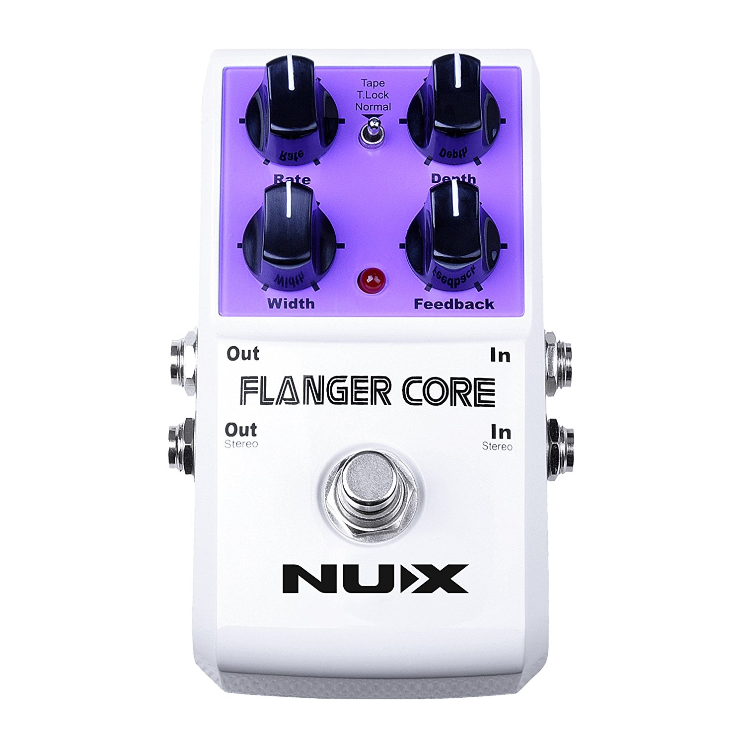 NUX Flanger Core Guitar Effects Pedal Normal & Tape Flanger True Bypass nux ch 3 chorus guitar pedal true bypass design electric guitar effects pedal free shipping