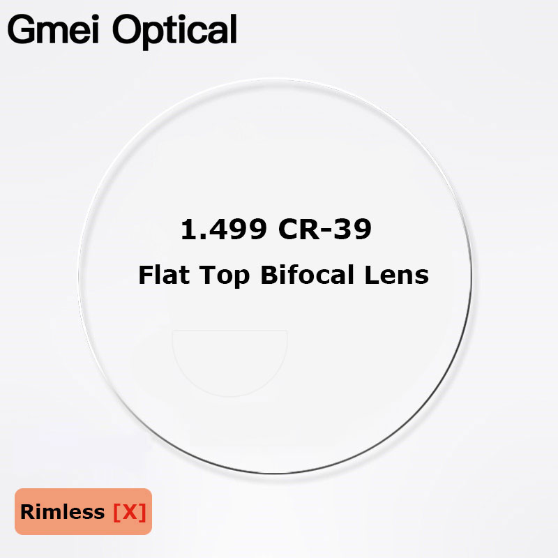 1.499 CR-39 Flat Top Bifocal Prescription Glasses Optical Lenses Customized Round Top Bifocal Optical Spectacles Lenses 2 Pcs