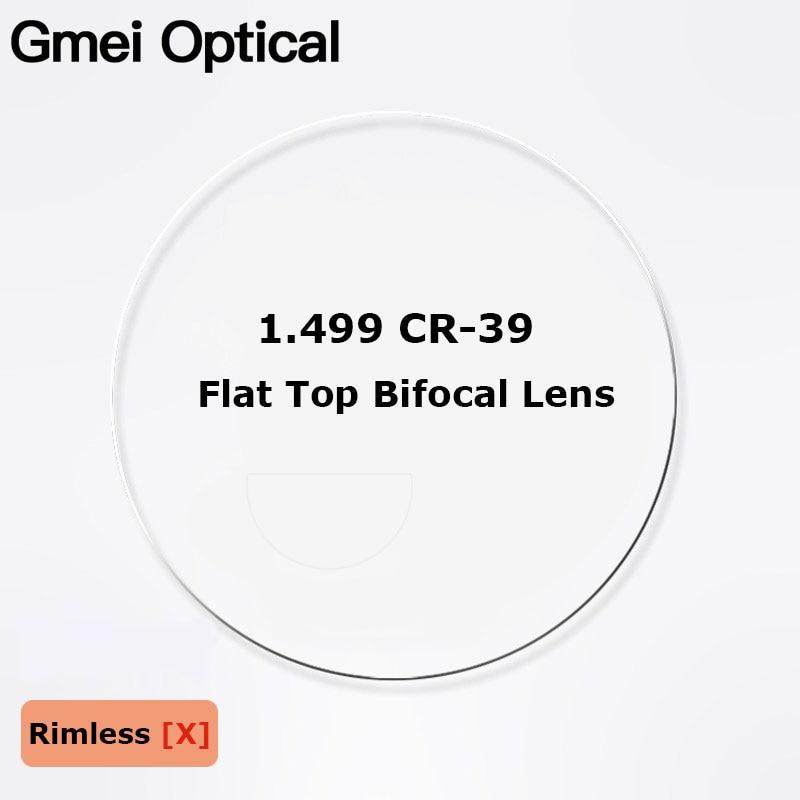 1.499 CR-39 Flat Top Bifocal Prescription Glasses Optical Lenses Customized Round Top Bifocal Optical Spectacles Lenses 2 Pcs