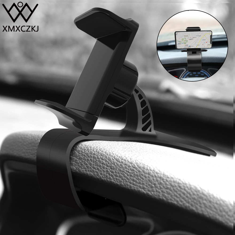 XMXCZKJ Car Mount Mobile Cell Phone Holder Cradle Cellphone Clip Stand Support For Adjustable Bracket Smart Phone Holder In Car