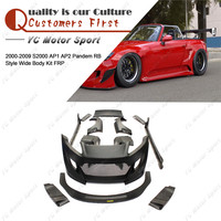 FRP Fiber Glass Bodykit Fit For 2000 2009 S2000 AP1 AP2 Pandem RB Style Body Kit Bumper Lip Side Skirt Fender Spoiler GT Wing
