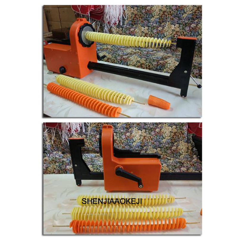Commercial electric potato chip machine automatic tensile spin-cut potato tower machine Potato machine 220V 1pc
