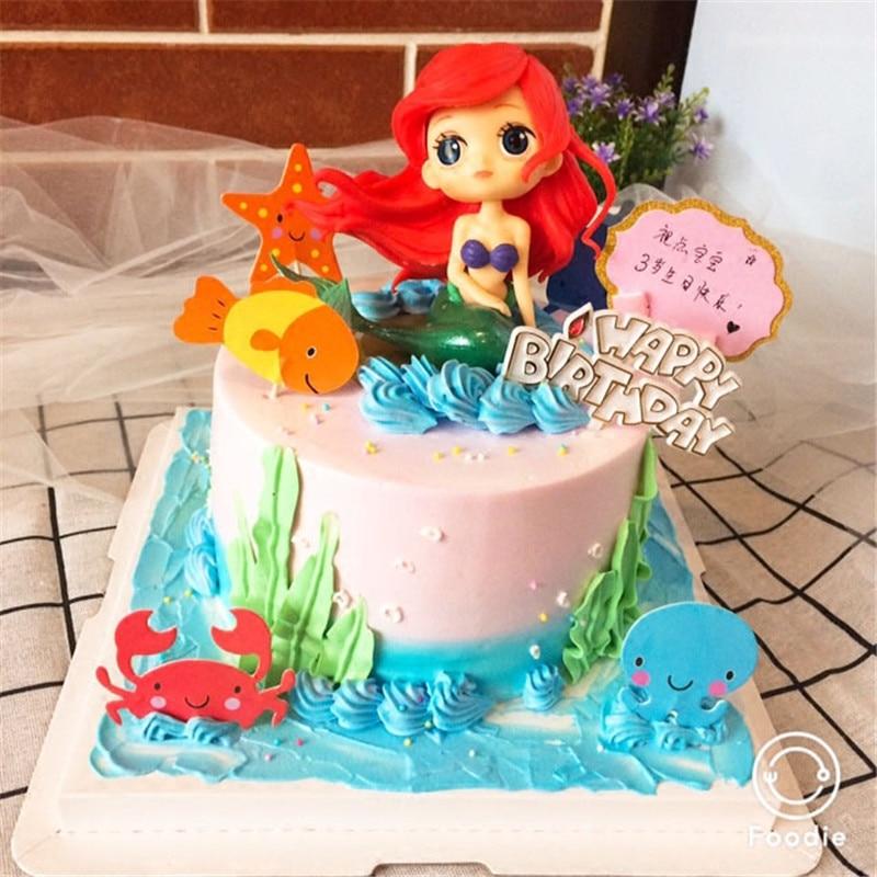 Wondrous Holiday Decorations Girls Birthday T Topper Little Mermaid Personalised Birthday Cards Veneteletsinfo