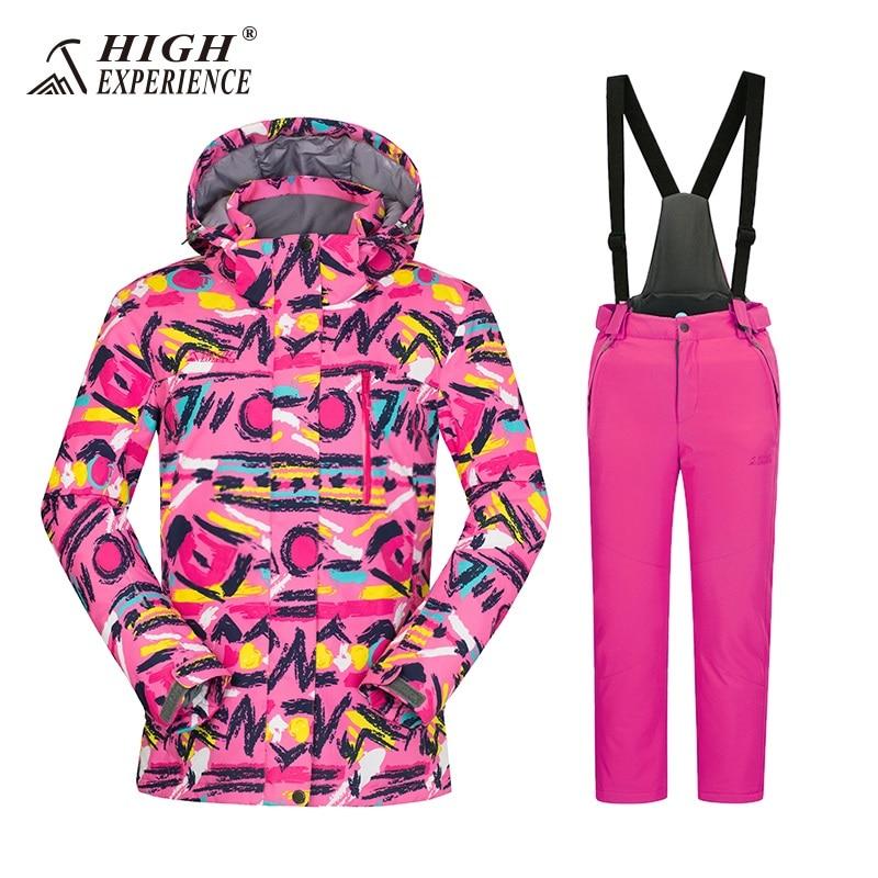 2018 зимние штаны, куртка высокого качества, теплый лыжный костюм, детская куртка для сноуборда, костюм для сноуборда для мальчиков, детский н