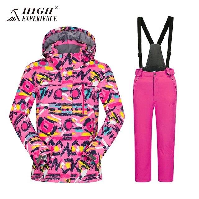 5ce262cbe 2018 winter pant high experience jacket warm ski suit kids snowboard ...