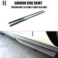 MK7 GTI Carbon Fiber Side Bumper Skirt for VW GOLF 7 GTI Only ( can't fit R/R LINE) Auto Racing Car Styling Side Skirts Bodykit