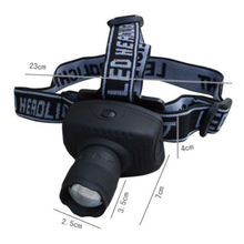 LED baterka na čelo zoomovateľná