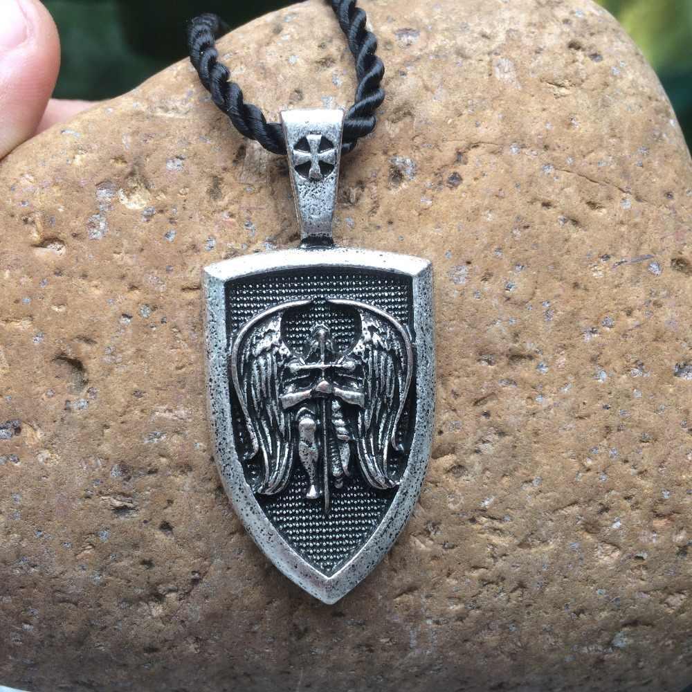 Męska naszyjnik archanioł st. Michael ochrony Me Saint tarcza ochrony wisiorek talizman naszyjnik