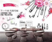beibehang Custom wallpaper mural store clothing makeup beauty shop background wall decorative 3d
