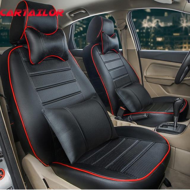 cartailor custom fit kunstleer autostoeltjes voor volvo xc70 stoelhoezen auto interieur accessoires zwart auto zitkussen ondersteunt